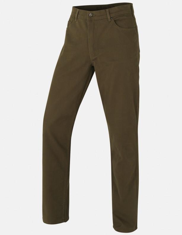 Hallberg 5 pocket zielone - spodnie na co dzień i w łowisko