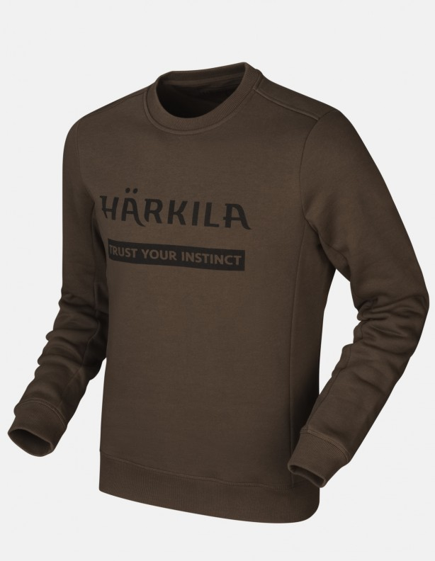 Harkila sweatshirt brown - bluza bawełniana DO 3XL!