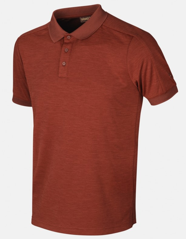 Harkila Tech Polo shirt burnt orange ROZMIARY DO 5XL!