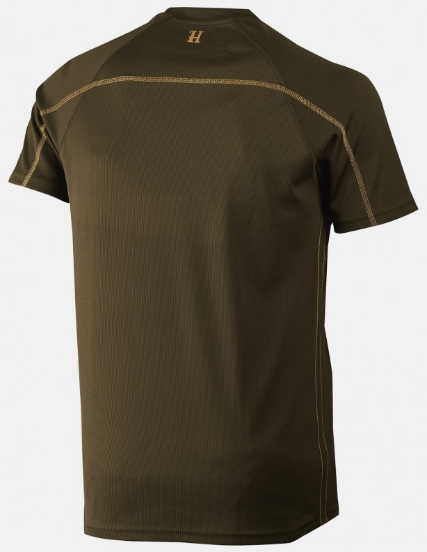 Herlet Tech willow green - techniczny t-shirt