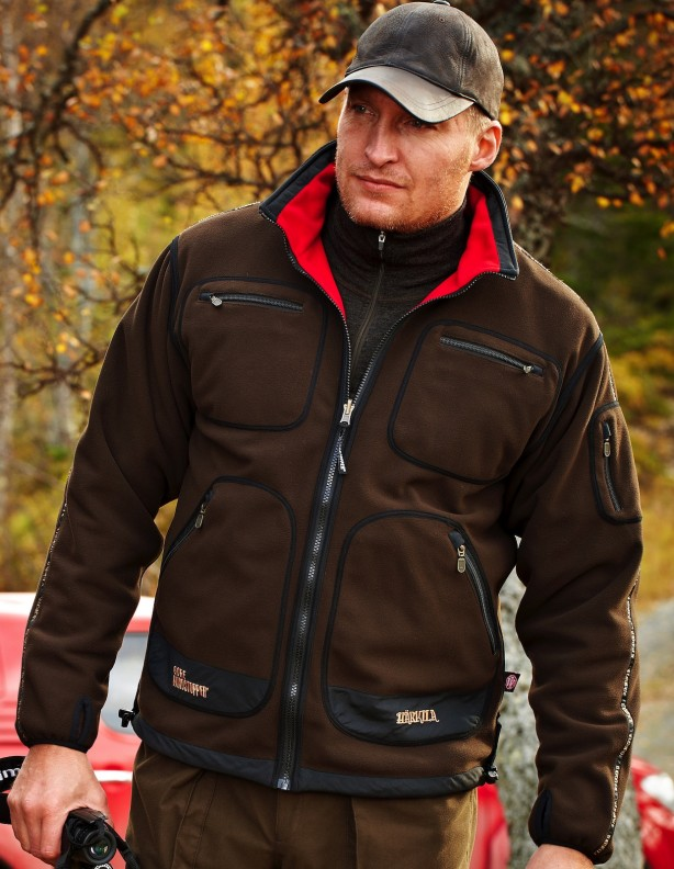 Kamko red/brown - dwustronny polar Windstopper® DO 5XL!