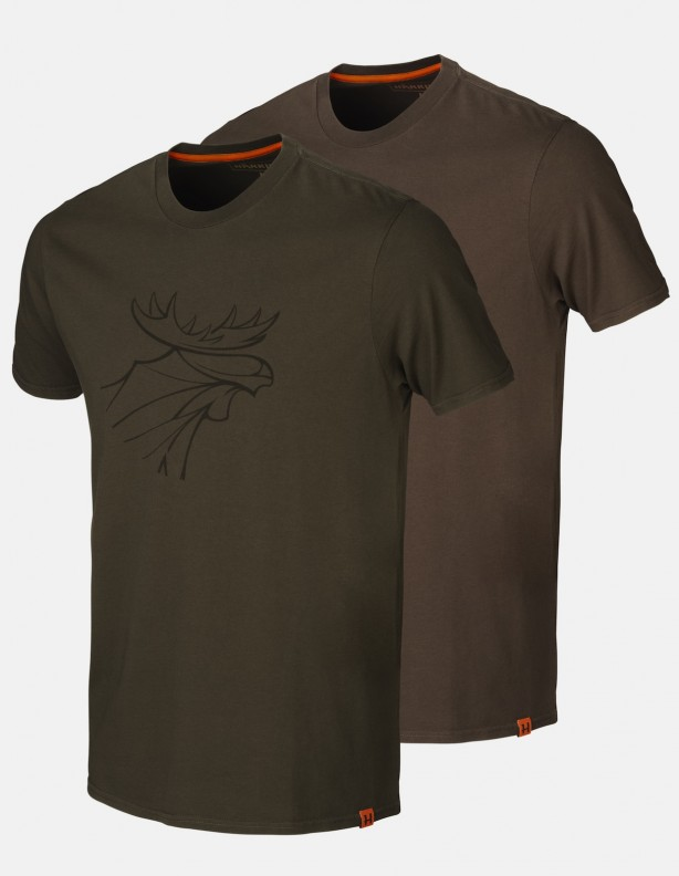 Koszulki letnie graphic 2-pak willow green / brown DO 5XL!