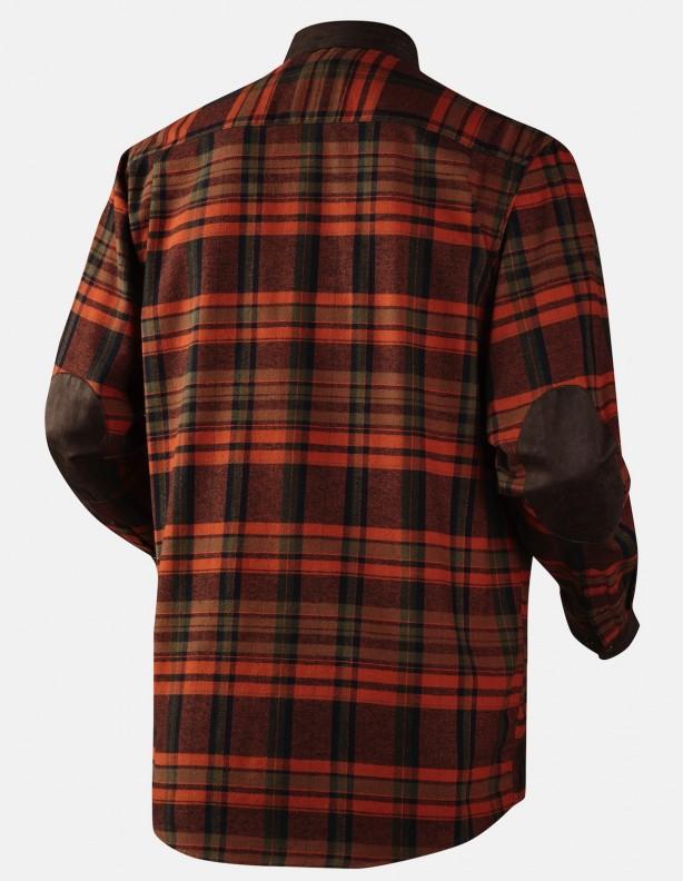 Pajala burnt orange - ciepła flanelowa koszula ROZM do 5XL!