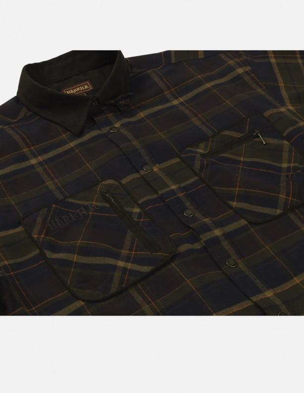 Pajala mellow brown - ciepła flanelowa koszula rozm do 5XL!