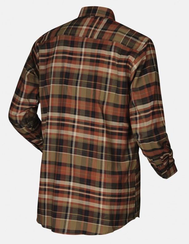 Newton burnt orange - bawełniana koszula z długim rękawem
