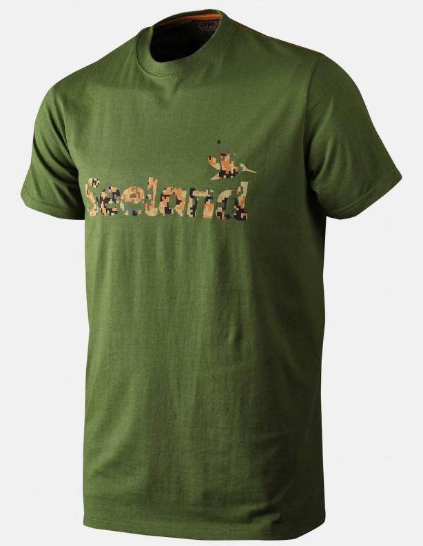 Camo bottle green - letnia koszulka logo Seeland