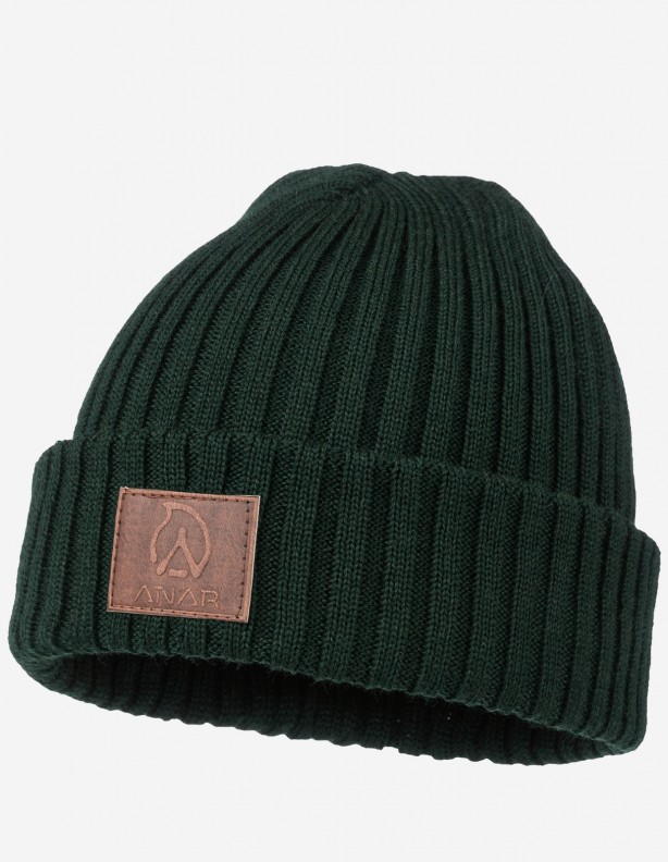Jussa - czapka 100% wełna z merynosa kolor zielony
