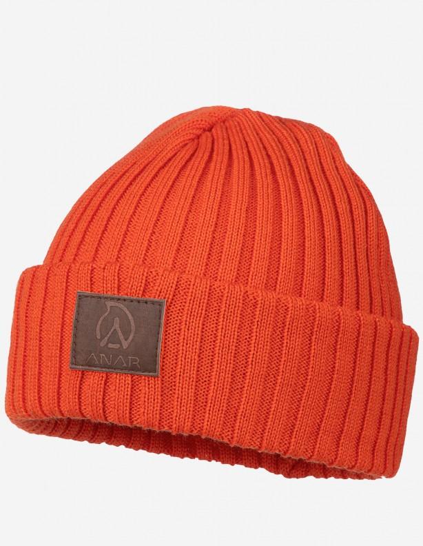 Jussa - czapka 100% wełna z merynosa kolor pomarańczowy