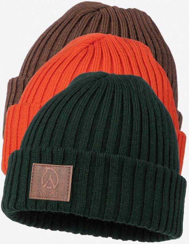 Jussa - czapka 100% wełna z merynosa kolor brązowy