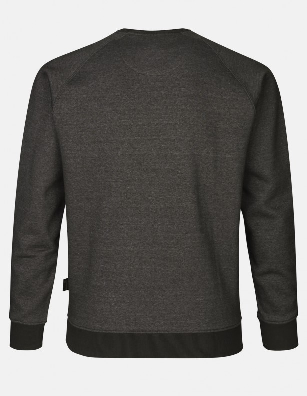 Key-Point sweatshirt grey melange ciepła bluza z psem