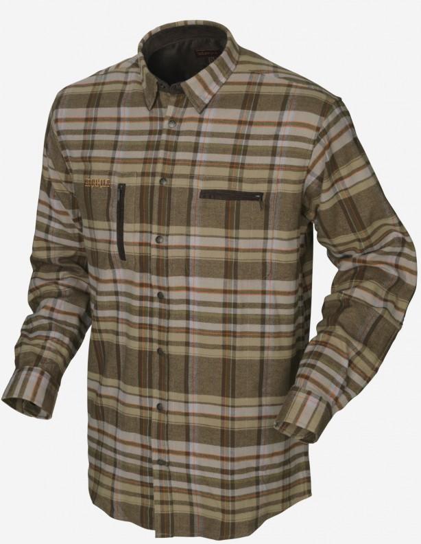 Eide - ciepła flanelowa koszula 100% bawełna ROZM DO 5XL! Kolor Khaki check.
