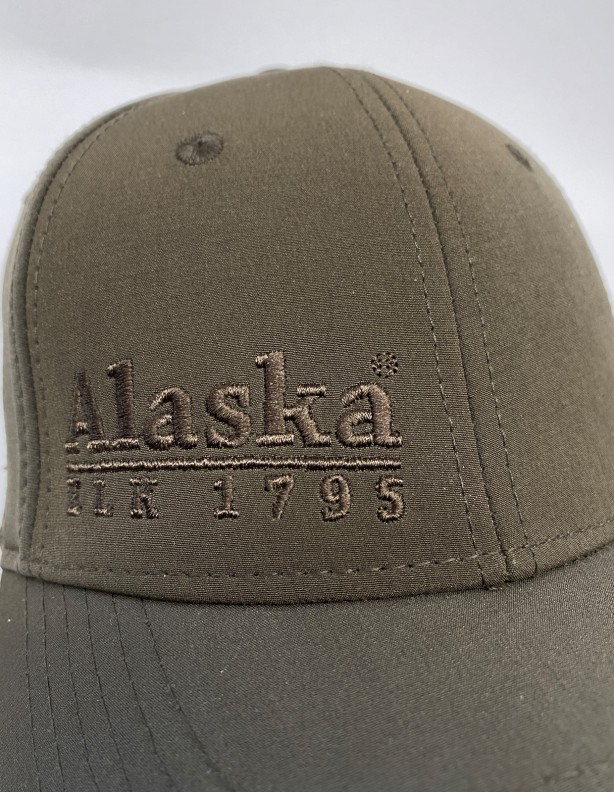 Czapka z daszkiem Alaska brązowa