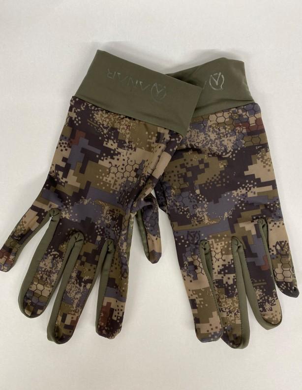 Cienkie rękawiczki Giehta - kamuflaż pikselowy