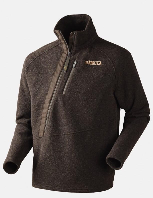 Nite Pullover shadow brown -  sweter ze skośnym zapięciem