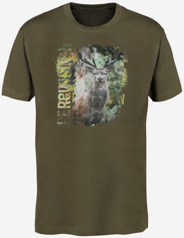 Percussion Deer - bawełniana koszulka z jeleniem