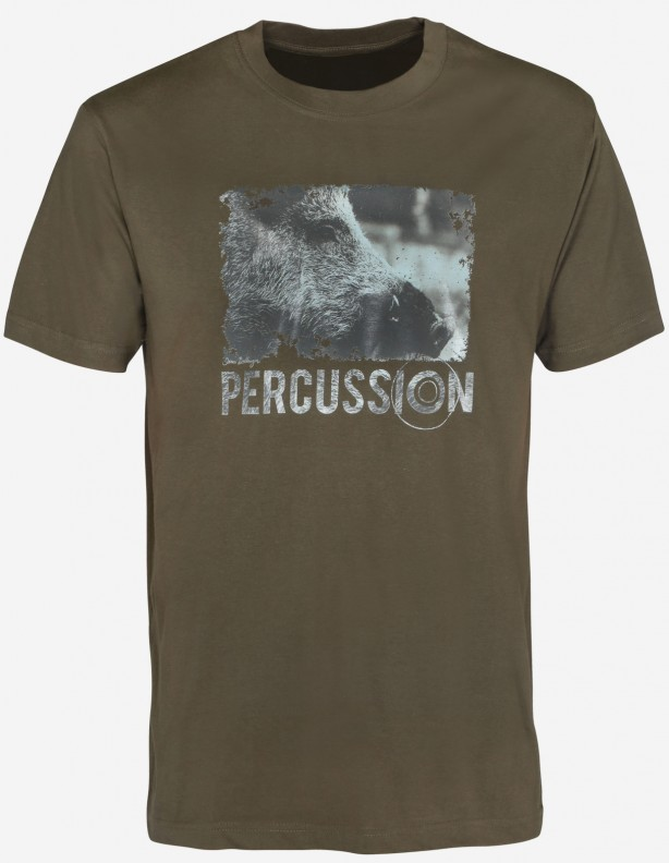 Percussion Boar - bawełniana koszulka z dzikiem