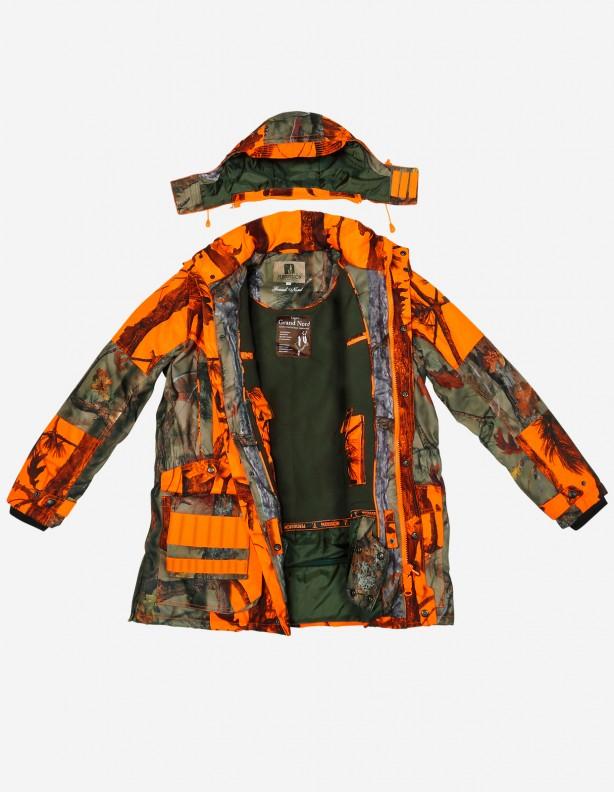 Grand Nord Orange - zimowa kurtka ocieplona polarem