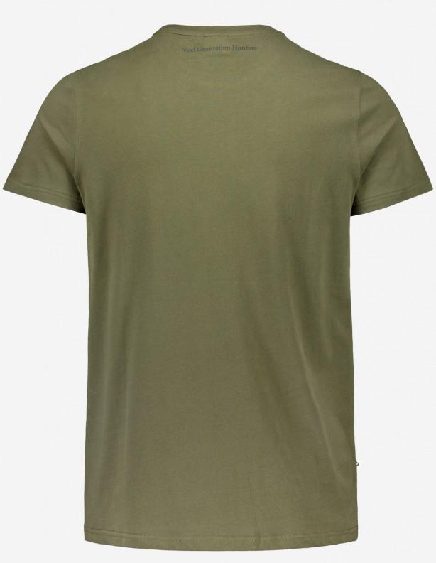 Hunter green - bawełniana koszulka Alaska
