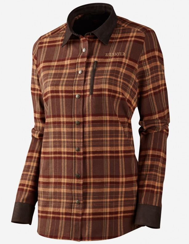 Pajala Lady burgundy check - flanelowa koszula dla Dian