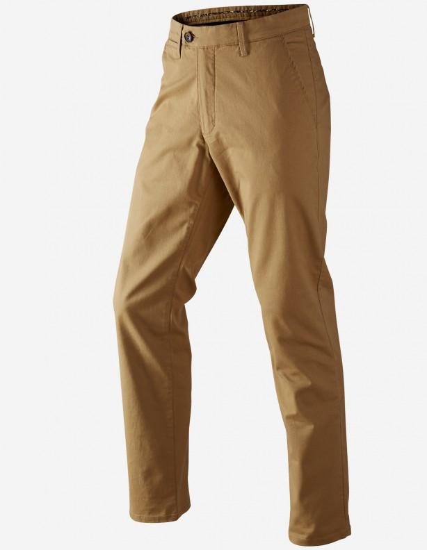 Norberg chinos sand - bawełniane spodnie prosty krój