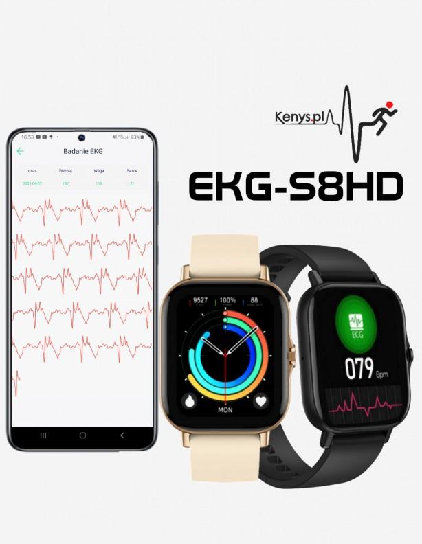 Zegarek EKG S8HD Kenys złoty