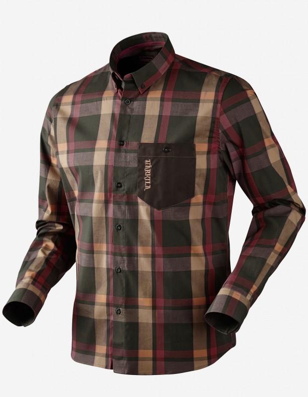 Amlet burgundy - cienka koszula z długim rękawem ROZM L
