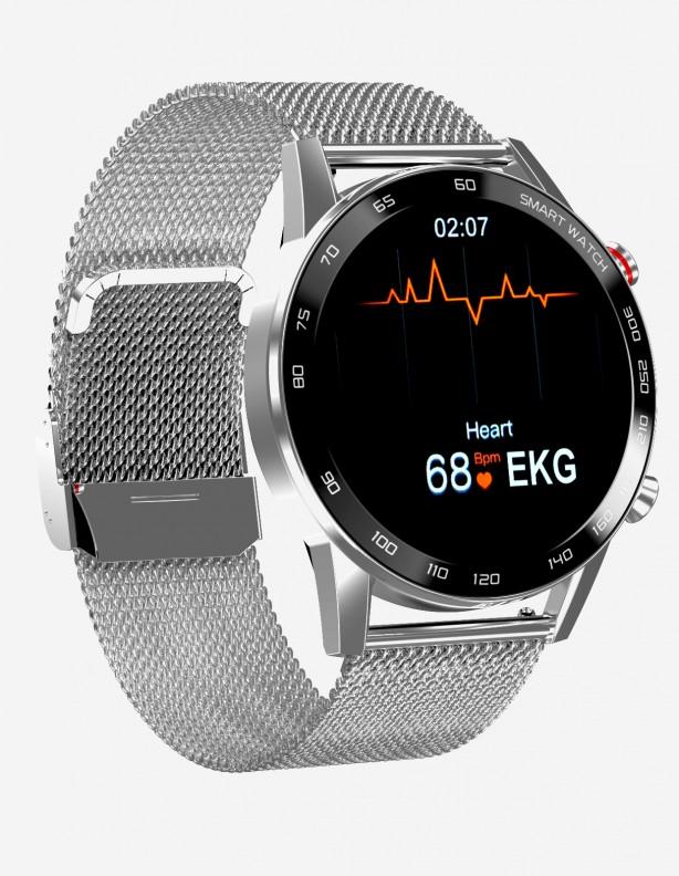 Zegarek Kenys S5HD srebrny z bransoletą