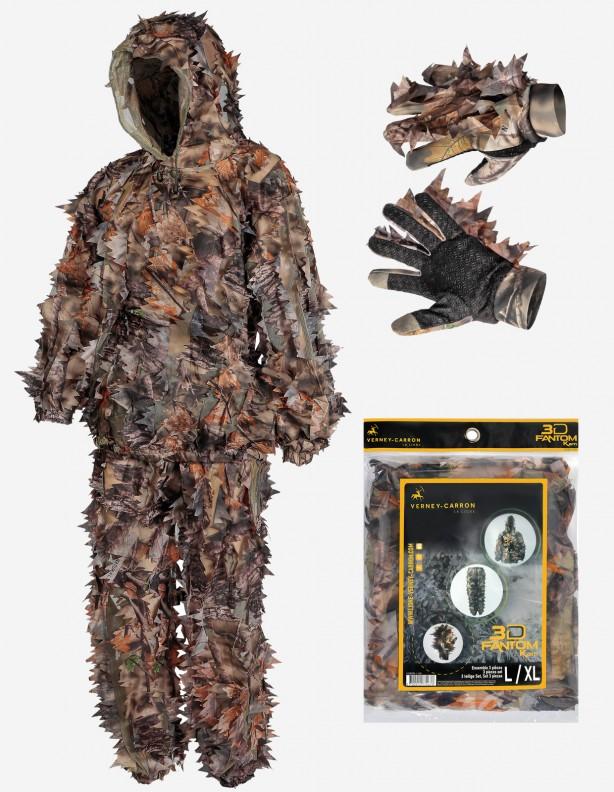 Zestaw maskujący Camo 3D - bluza, spodnie, rękawice