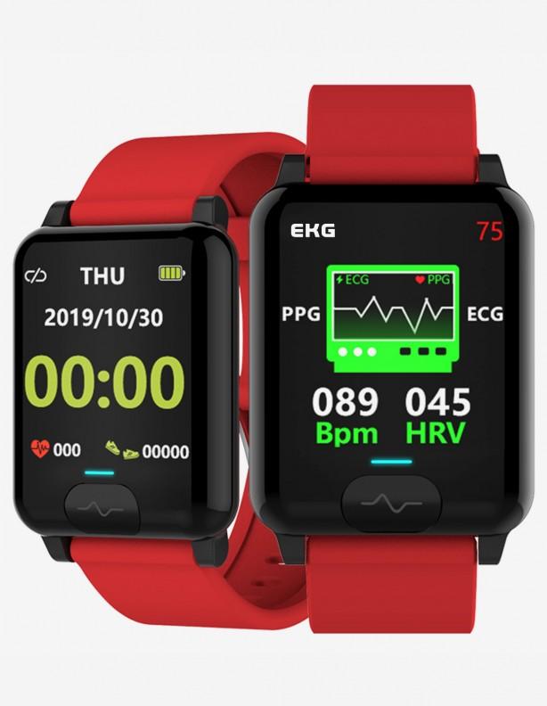 Zegarek Kenys Kardiowatch V-60 czerwony