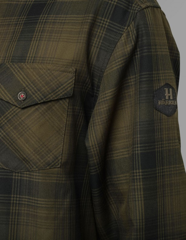 Koszula myśliwska Harkila Driven Hunt flanelowa olive green check