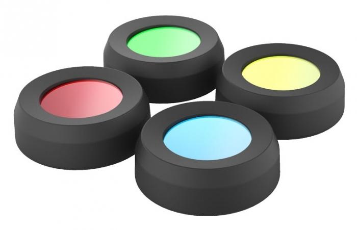 Zestaw barwnych filtrów do latarki czołowej MH10