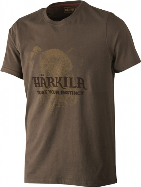 Odin demitasse brown - bawełniana koszulka z dzikiem