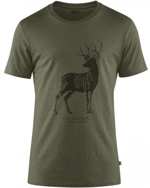 Deer T-shirt Tarmac - bawełniana koszulka z jeleniem Fjallraven