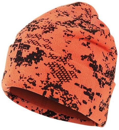 Ciepła wełniana czapka orange BlindTech Invisible®