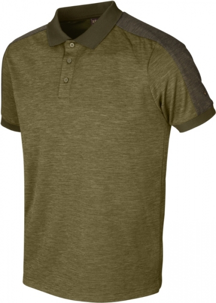 Harkila Tech Polo shirt dark olive / willow green do 5XL!