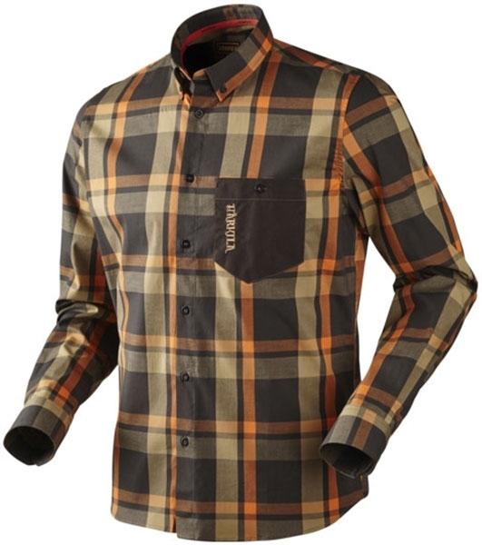 Amlet - cienka koszula z długim rękawem shadow brown