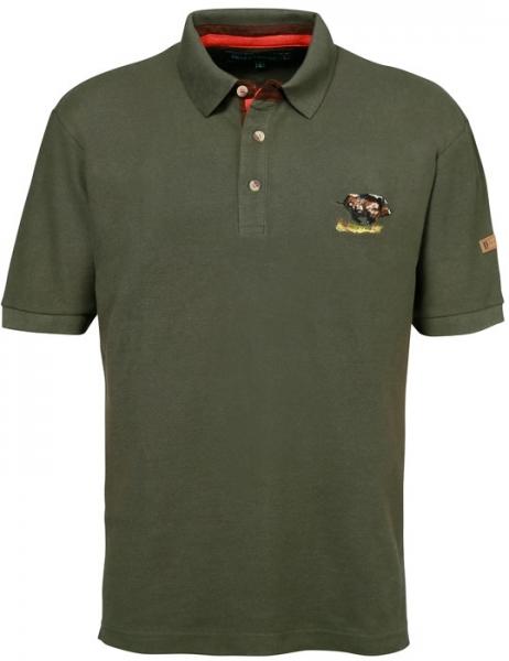 Polo - bawełniana koszulka z dzikiem ROZMIAR S, M