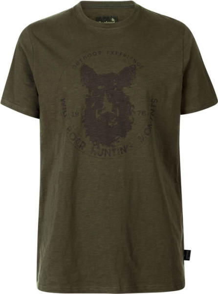 Flint T-shirt kolor oliwka Seeland