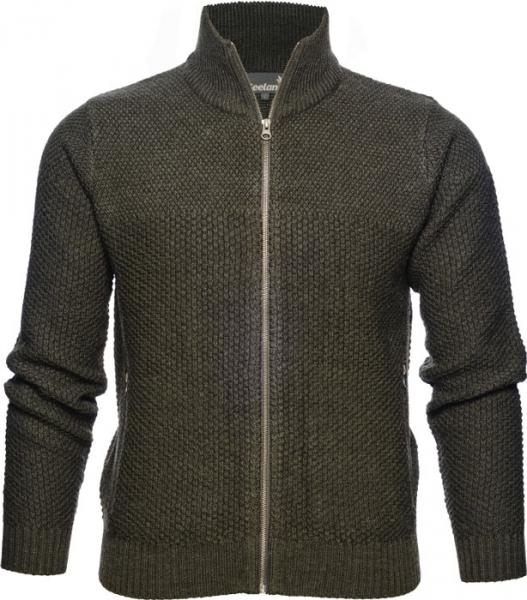 Dyna Knit - Sweter zapinany na suwak 50% wełna 50% akryl