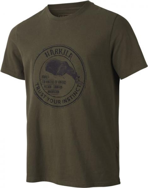 Wildlife willow green - bawełniana koszulka Bear