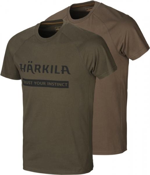 Koszulki letnie Logo 2-pak willow green / slate brown do 5XL!