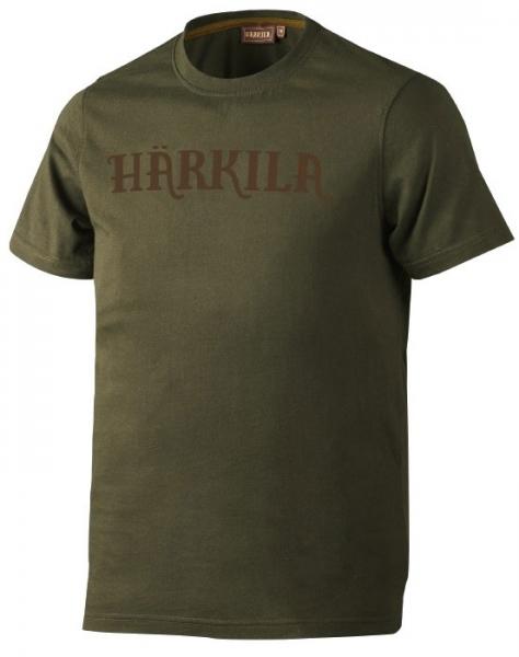 Logo dark olive - bawełniana koszulka Harkila ROZMIAR S