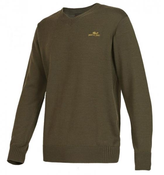 Abel - klasyczny sweter z wycięciem w serek ROZM 48