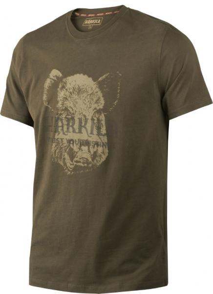 Odin willow green - bawełniana koszulka z dzikiem