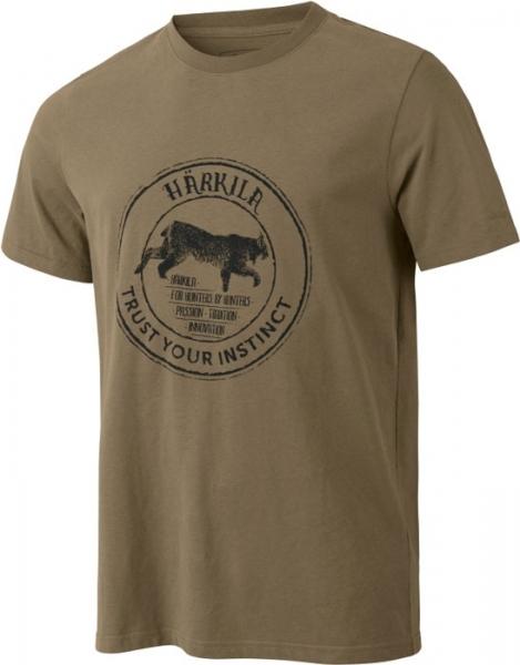 Wildlife khaki - bawełniana koszulka Lynx
