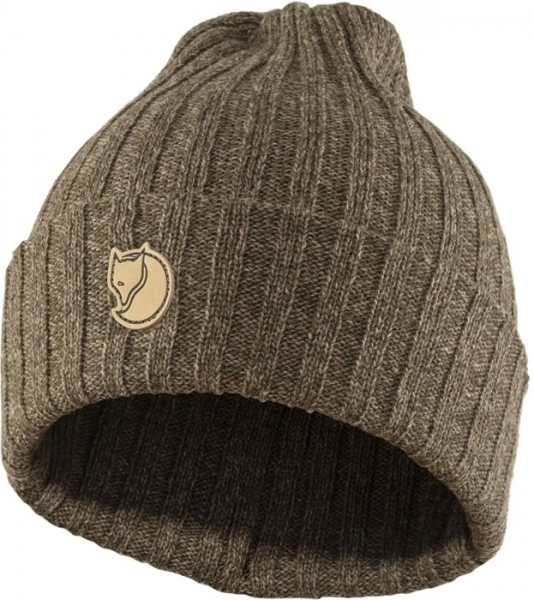Byron hat dark olive/taupe - wełniana czapka Fjallraven