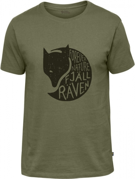 Forever Nature Green - bawełniana koszulka z liskiem