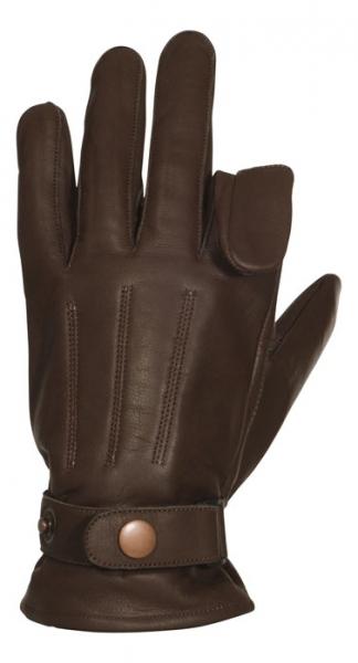 Rękawice skórzane z otworem na palec