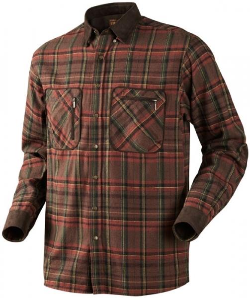 Pajala red check - ciepła flanelowa koszula rozm DO 5XL!