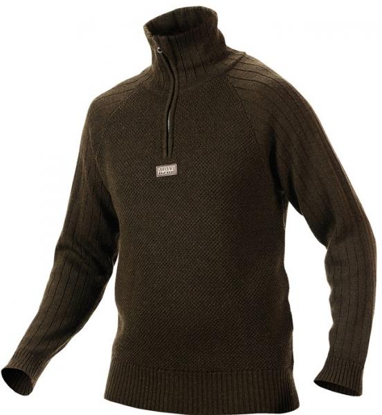 Unuk - Sweter z wełny z merynosów zielony Alaska